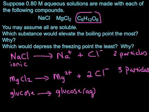 Colligative Properties Ex- Boiling Point Elevation-Freezing point Depression