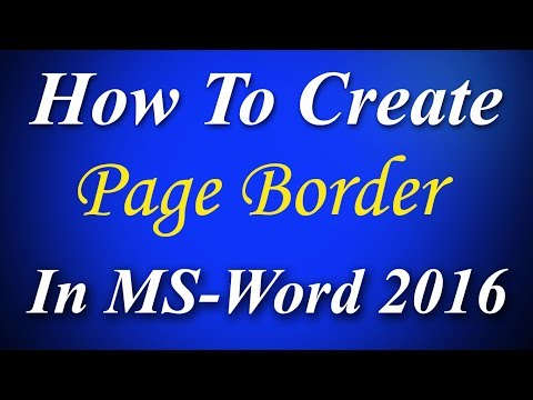 How to insert page border in microsoft word 2016