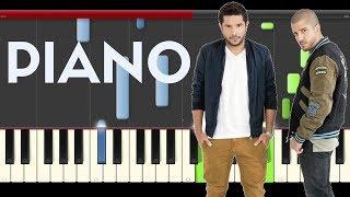Cali y el Dandee por fin te encontré piano midi tutorial sheet partitura cover