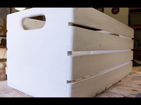 Making a Large Rustic Storage Crate | VQC