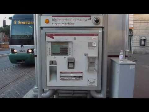 Rome Metro. Tram, and Bus Ticket Machines