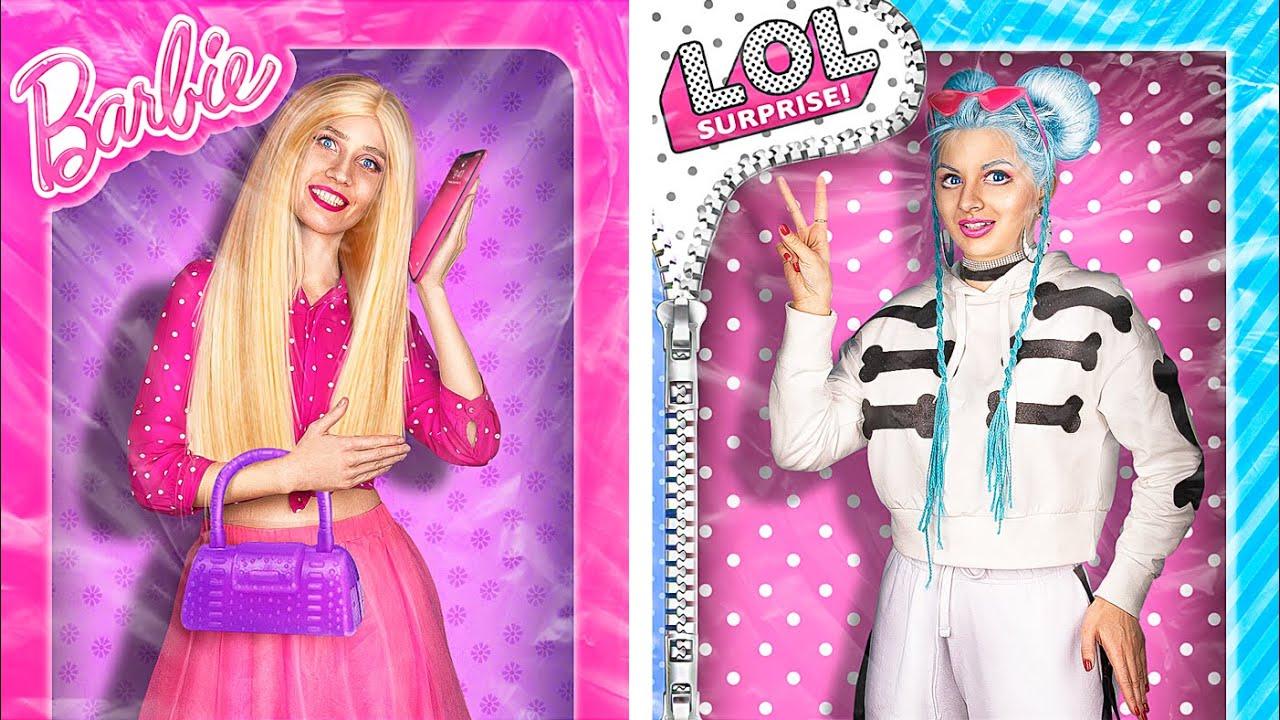 Barbie Girl vs LOL Surprise Girl / 24 Hours Challenge