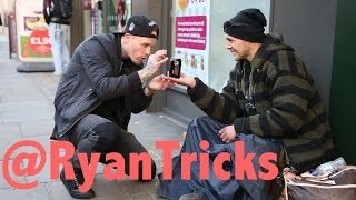 Magician makes Homeless man