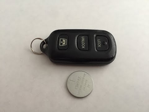 How to change battery in Toyota remote