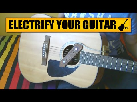 Acoustic to electric guitar : DIY Experiments #4 - Homemade pickup