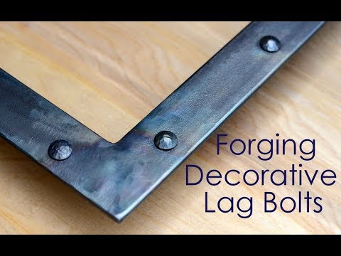 Making Decorative Lag Bolts // Blacksmith Tips and Techniques for Modern Blacksmiths!