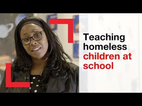 Teaching homeless children at school   homelessness   Shelter