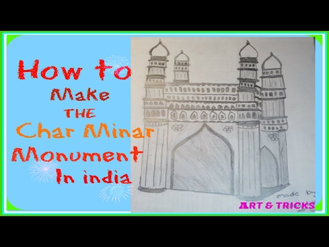How to make the (Char Minar) monument drawing.Art