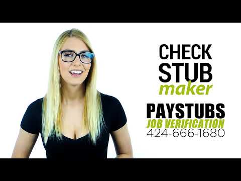 PAYSTUB AND JOB VERIFICATION SERVICE