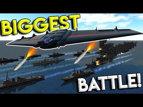 BIGGEST NAVAL FLEET BATTLE & SPACE MOD! - Simple Planes Creations Gameplay - EP 11