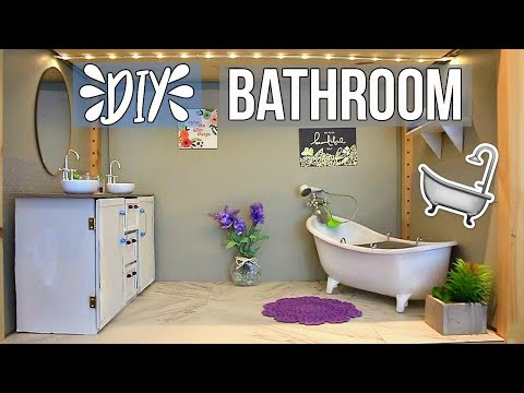 HOW TO MAKE A DOLL BATHROOM! | DIY American Girl Doll Bathroom & How to Make a Doll Sink!