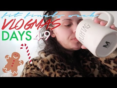 FINALS WEEK AT THE FASHION INSTITUTE OF TECHNOLOGY | Vlogmas Days 4-9