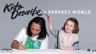 Kids Describe A Perfect World to Koji the Illustrator