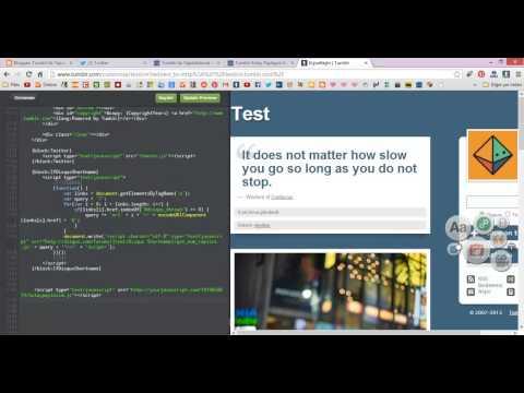 Tumblr HTML Düzenle Bölümüne Kod Nasıl Eklenir?