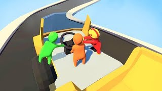 IMPOSSIBLE TRUCK DRIVING WITH FRIENDS! (Human Fall Flat Episode #3)