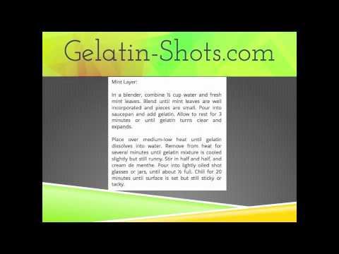 Gelatin Shot Recipes