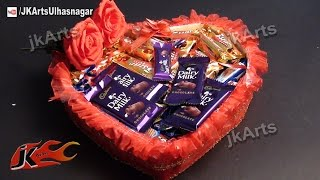 DIY Valentines Gift Idea    Chocolate Basket   JK Arts 481