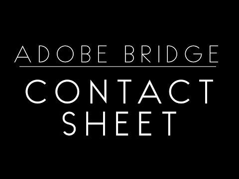 Contact Sheets