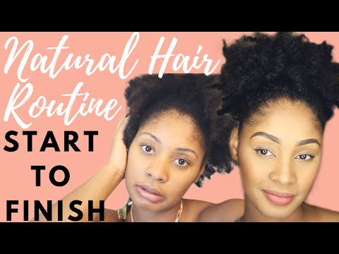 Natural Hair Routine & How to Moisturize Dry Hair | Start to Finish