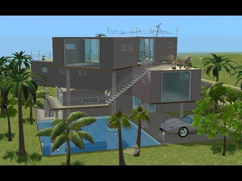 ♢ The Sims 2 ♢ Super Modern Vacation Home ♢
