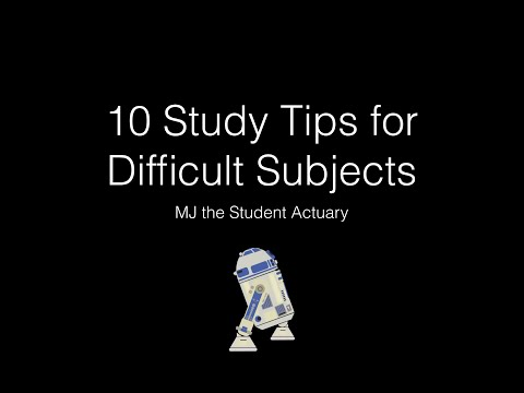 10 Tips for Studying Difficult Subjects