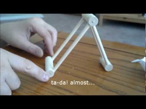 How to make a quickie wooden phone stand on the cheap out of dowels