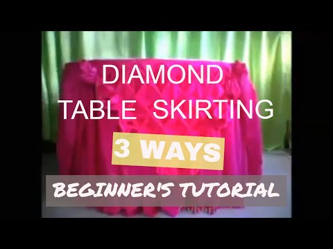 How to do basic Diamond Table Skirting / 3 WAYS / BEGINNERS TUTORIAL / GraceVi