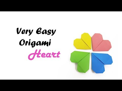 Origami ♥︎ Heart ♥︎ Tutorial   Origami valentine love heart easy tutorial for kids& valentine's day