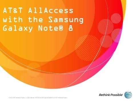 Samsung Galaxy Note 8 : AT&T AllAccess