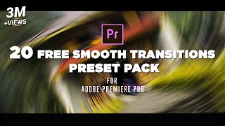 20 FREE Smooth Transitions Preset Pack for Adobe Premiere Pro   Sam Kolder Style