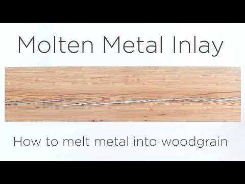 Molten Metal Inlay | How to melt metal into wood grain