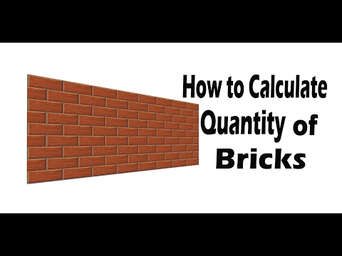 How to Calculate number of Bricks.