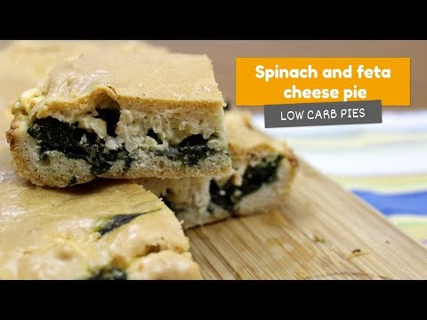 Spinach and feta cheese PIE • Low Carb Pies #1