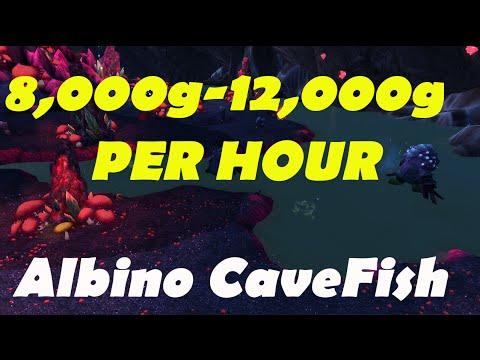 WoW: Goldfarm 8,000g - 12,000g  Per Hour | Albino Cavefish |