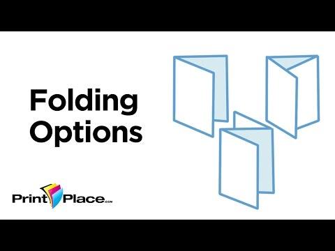 Folding Options by PrintPlace.com