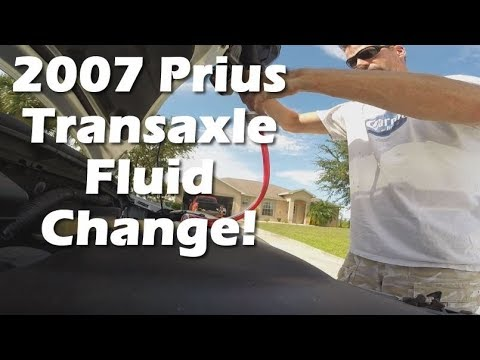 Changing the transaxle fluid on our 2007 Toyota Prius