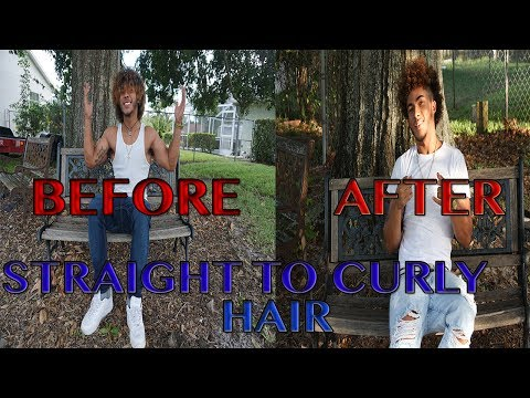 How To Get Curly Hair For Men With Straight Hair (NO HEAT)