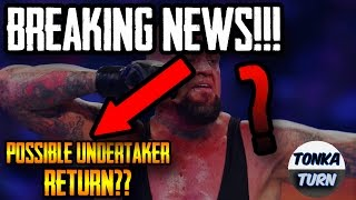The Undertaker making a Comeback for Wrestlemania - Undertaker making a Comeback for WM34?