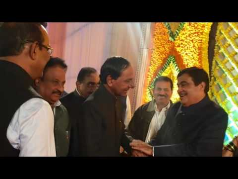 Telangana CM KCR attend to Union minister Nithin Gadavari Daughter Marriage