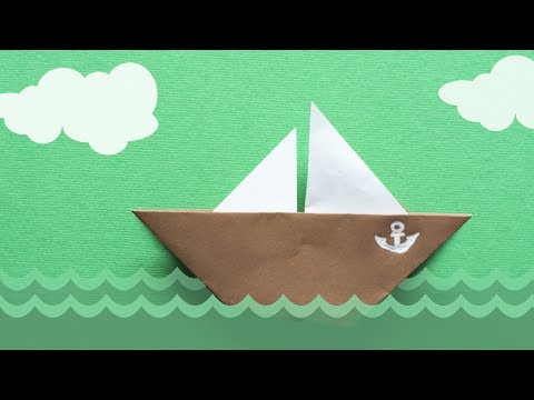 Origami for Kids. How to make a paper Boat