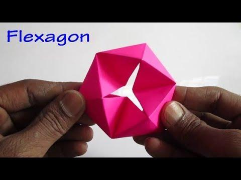 Paper Flexagon - How to make a Flexagon with Paper