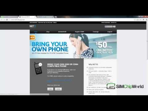 HOW TO ACTIVATE A NET10 CDMA CELL PHONE [WWW.SIMCHIPWORLD.COM]