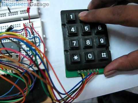 8051 Microcontroller based Servo motor control project