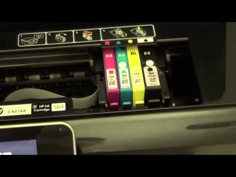 How to Uninstall and Install Ink Cartridges on a HP Photosmart 6525