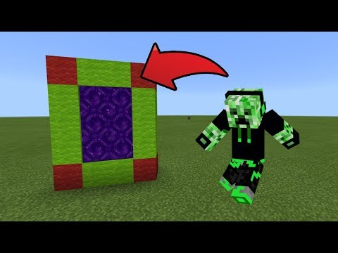 How To Make a Portal to the Creeper Friend Dimension in MCPE (Minecraft PE)