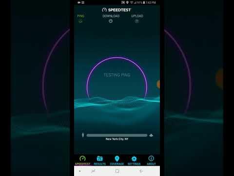 Verizon 4G LTE speed test New Jersey New York