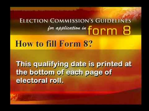 How to Correct an Entry in Electoral Rolls Form 8