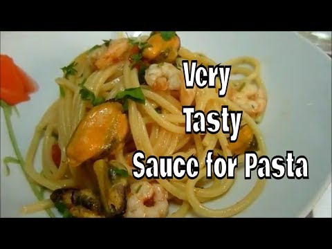 Spaghetti With Mussels and Shrimps Very Tasty Sauce for Pasta