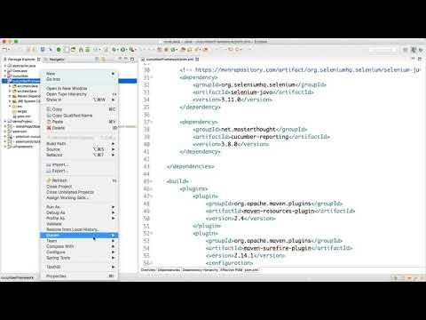 Add Required Dependencies for Selenium Cucumber Framework Video-4