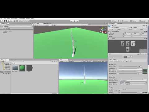 Making a platform and a tree | Unity 5 tutorial how to make a park in unity from scratch with 0 code
